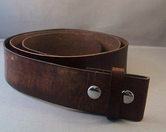 Vintage Brown leather Belt-Belt for Buckle-Gifts-Mens Leather Belt-Womens Leather Belt-Leather Strap Belt-Brown Snap Belt-Brown Leather Belt