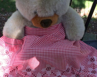 Handmade Counted Cross Stitch Gingham Apron