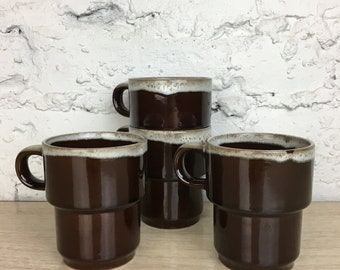 Japanese Stacking Drip Glaze Mugs