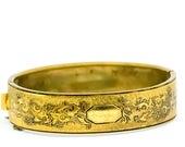 Vintage Bracelet - Gold Bangle - 1940s Bracelet - GoldTone Bracelet - Vintage Bangle Bracelet - Gift For Her - Mom Gift - Fashionista Gift