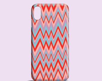 Zig Zag phone case / iPhone X / iPhone 8 / Chevron iPhone 7 / red iPhone 7 Plus / 8 Plus / iPhone 6, 6S, iPhone SE, Samsung Gal S7, S6, S5