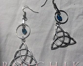 Wiccan . Triskele . Dangle Earrings