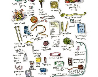 What's in the Knitter's bag?