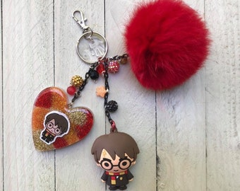 Harry Potter Inspired Purse Charm Keychain