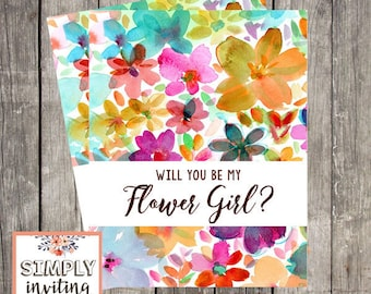 Will You Be My Flower Girl Card | Card For Flower Girl | Flower Girl Proposal | Flower Girl Request | Printed Wedding Card for Flower Girl