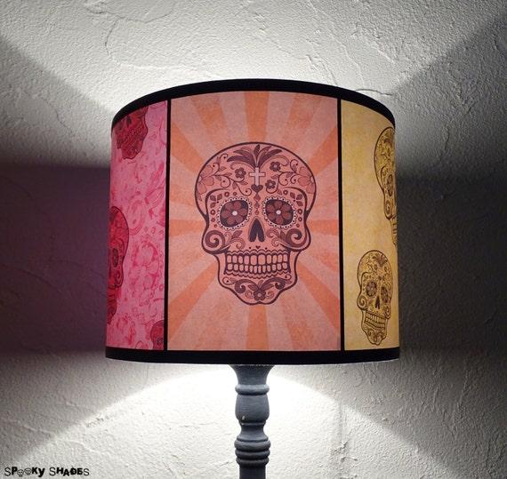 Mexican sugar skulls calaveras lamp shade lampshade skull te gusta este artculo aloadofball Image collections