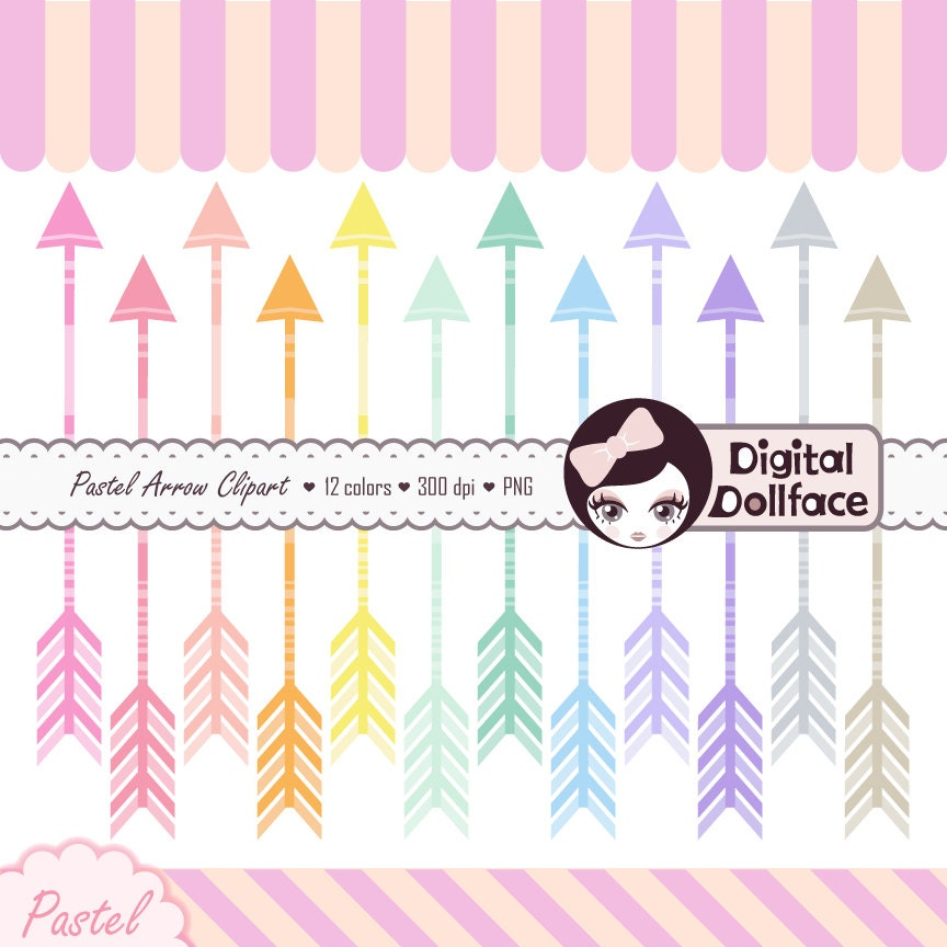 Pastel Arrow Clipart Graphics Aztec Tribal Clip Art Digital