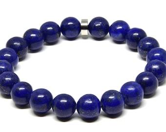 Genuine Lapis Lazuli Stretch Bracelet