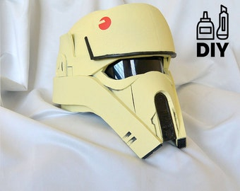 DIY Rogue One: A Star Wars Story - Shoretrooper helmet templates for EVA foam