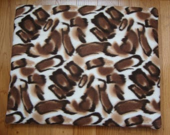 Brown Pattern Flat Bed