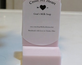 Blackberry Sage Goat's Milk Soap Bars-Hand Poured- Cross My Heart Collection