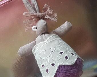 Rabbit doll keychain/Rabbit doll keyring/Bunny doll keychain/Bunny doll keyring/Purple/Rag doll/Fabric doll