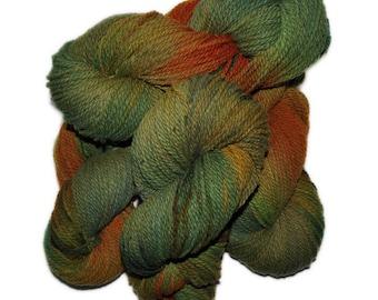 Hand dyed yarn - Columbia Wool yarn, Worsted weight, 170 yards - Alfrik