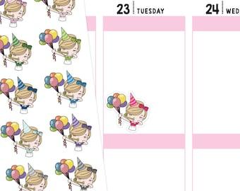 Jenni Birthday Planner Stickers, Birthday Stickers, Party Stickers, Party Planner Stickers, Cute Stickers