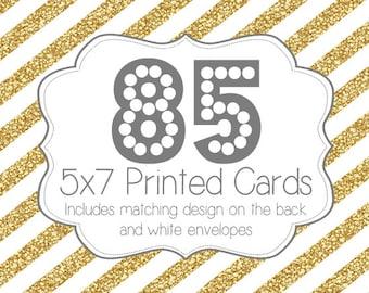 85 PRINTED INVITATIONS and white envelopes