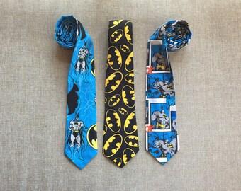 DC Comic Neck Tie  / Batman Tie, Men's Neck Tie, Boy's Neck Tie, Tie Up Tie or Clip on Tie