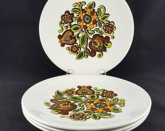 "1960s ""Tanya"" Set of 4 Dinner Plates"