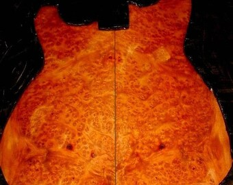 Amboyna Burl Guitar luthier set highly figured backs picks rosettes jewelry knife scales gun grips -aa