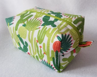 Cactus Box Zipper Pouch