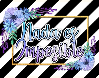 Nothing is impossible | Illustrated phrase