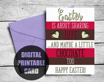 Easter Card | Printable | Happy Easter | Easter Card Download | Funny Easter Card | Happy Easter Card | Easter Greeting Card | Download