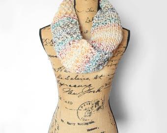 Rainbow Knit Chunky Scarf