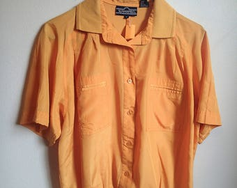 Summerfield 1980's Canary yellow polo