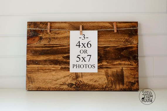 Rustic Wood Photo Board Reclaimed Wood Photo Collage Frame