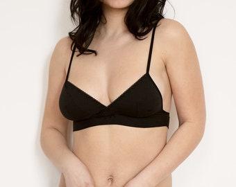 Organic cotton lingerie set- Bralette & Panty, bio lingerie, ethical lingerie, Bamboo lingerie, soft bra and panty set