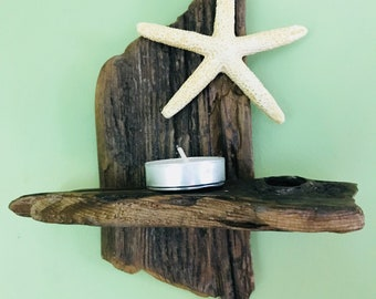 Driftwood Tea Light Shelf