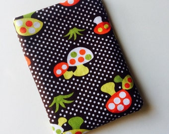 Pill Case Birth Control Cozy - mushrooms & polka dots