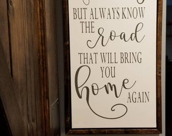 Chase your dreams in a rustic framed canvas Magnolia market inspired
