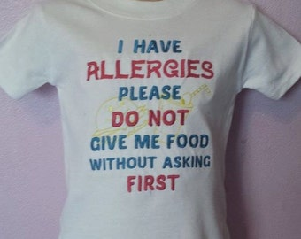 Childrens Allergy T-Shirt