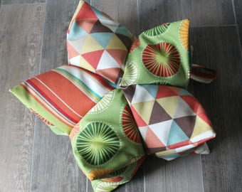 Lotus Meditation Pillow, Yoga, Patchwork, Yoga cushion, Meditation cushion, Yoga Prop, Zafu, Boho, Bean Bag Chair, Floor Cushion, Handmade