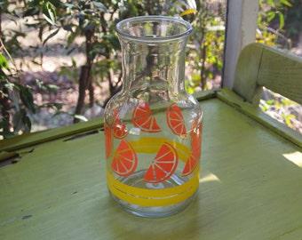 Carafe, Orange Juice Carafe, Juice Pitcher, Juice Storage, Juice Server, Juice Jar, Glass Carafe, Glass Pitcher, Drinks Carafe, Prop