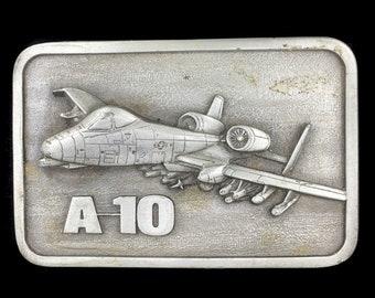 Vintage A10 Warthog Jet Fighter Plane USAF Air Force Military Belt Buckle