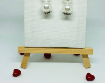 Red heart /earring heart earring