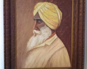 Sikh/Hindu old man painting 1967