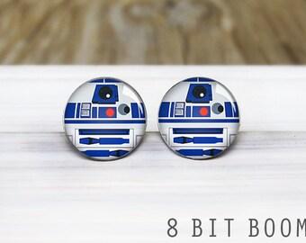 R2-D2 Stud earrings- Star Wars Earrings - Hypoallergenic Earrings for Sensitive Ears