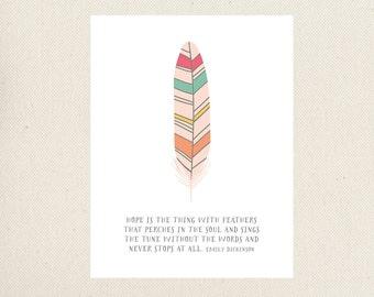 Feather Art Print, Printable