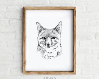 Art Print - Fox - Giclée print of an original illustration