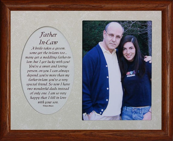 8x10 MY OTHER FATHER Photo & Poetry Frame w/Cream Mat