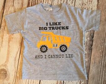 I lIke Big Trucks And I Cannot Lie Kids Tshirt