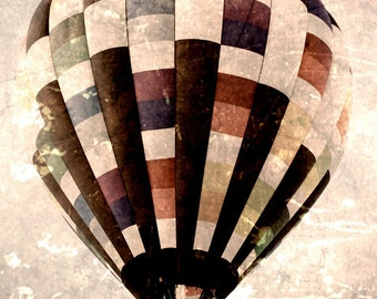 Vintage Hot Air Balloon ACEO - limited edition fine art print - whimsical - collectible art