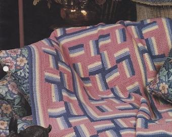 Windmill Quilt, Annie's Attic Crochet Quilt & Afghan Pattern Club Leaflet 18-1-02