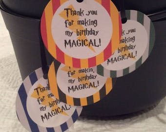 Harry Potter Party Favor Tags - Gryffindor - Digital Download