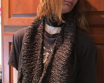 Toasty Charcoal Loop Scarf