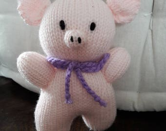 Pink Knitted Piglet