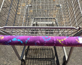 Shopping Cart Handle Cover, Shopping Cart Cover, Cart Cover,  Tie Dye Purple Print Cart Cover, Shopping,  Handy Cart Cover