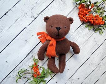 Stuffed bear-Soft toy-honey bee bear-teddy bear-toys for children-Plush Teddy doll-fabric soft bear-Toys in nursery-bear softie
